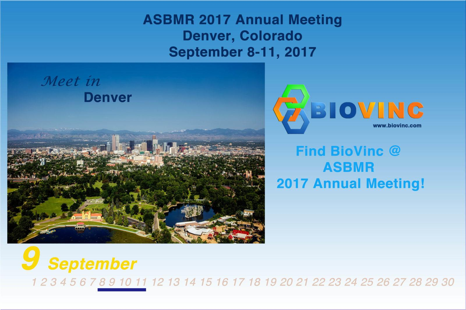 BioVinc will present new data at the 2017 ASBMR Annual Meeting