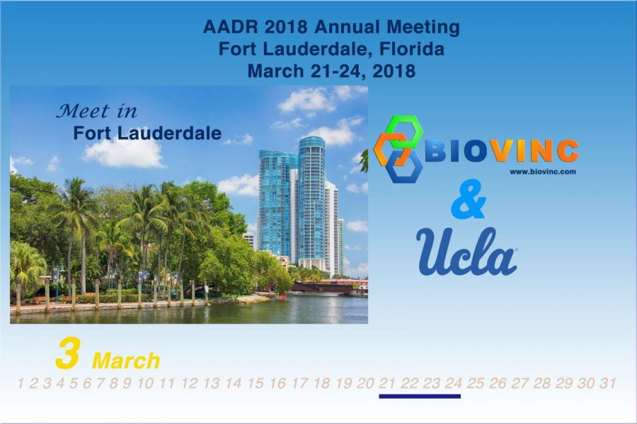 BioVinc collaborator presentation at the 2018 AADR Annual Meeting