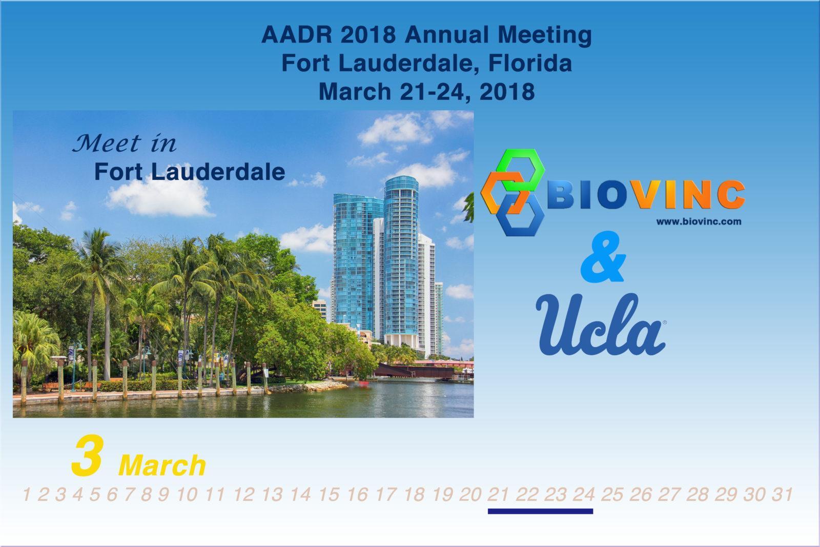BioVinc collaborator presentation at the 2018 AADR Annual Meeting